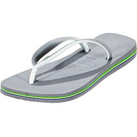 havaianas Brasil Mix Miehet sandaalit , harmaa/valkoinen